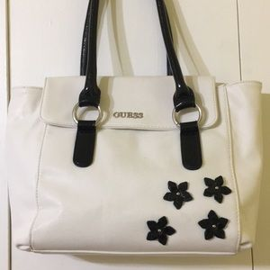 Guess purse w/ flowers bag/tote (authentic)